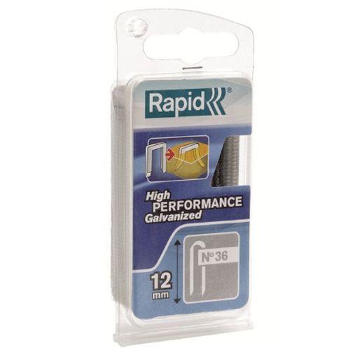 GRAPA ELEC CABLE 12MM Nº36 RAPID 864 PZ